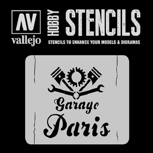 STENCILS ROTULO DE GARAJE VINTAGE ST-LET001