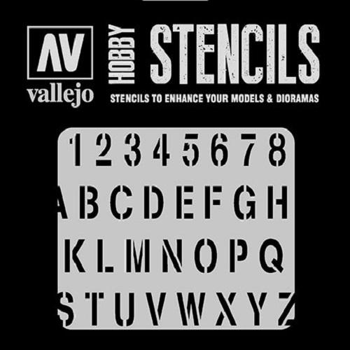 STENCILS ALFABETO DE ESTAMPACION ST-LET002