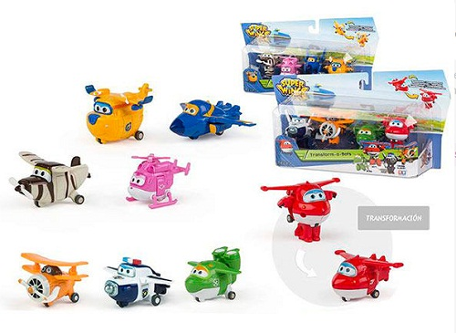 BLISTER 4 FIGURAS TRANSFORMABLES SUPER WINGS A-BOT