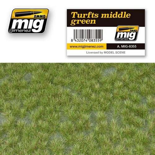 TURFS MIDDLE GREEN 22,5X12,5CM.