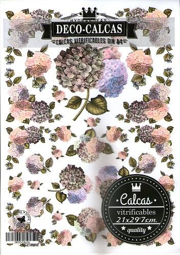 DECO-CALCAS A4 HORTENSIAS CT015