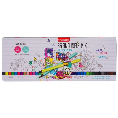 SET BRUYNZEEL FINELINERS 36 COLOR PUNTA FINA 0.4MM