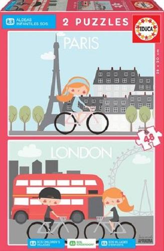 PARIS & LONDON APANONA PUZLES 2X48 PIEZAS 17726
