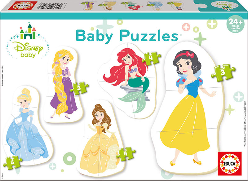 BABY DISNEY PRINCESAS 5 PUZZLES PROGRESIVOS 17754