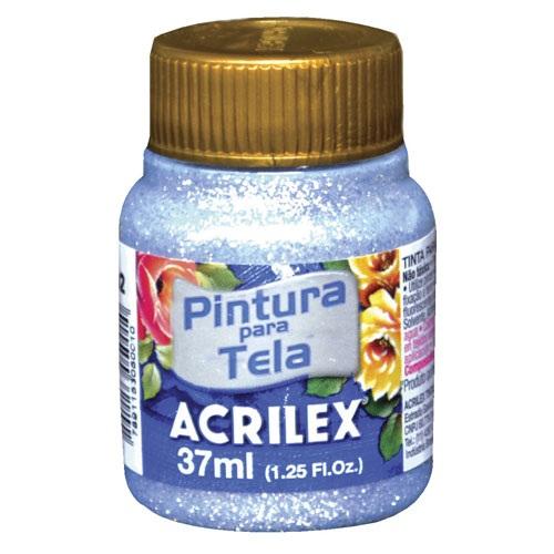 PINTURA ACRILEX GLITTER TELA PLATA 202 37ML.