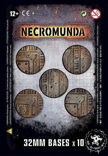 NECROMUNDA 32MM. BASES (10)