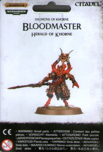 DAEMONS OF KHORNE BLOODMASTER HERALD OF KHORNE