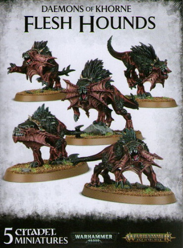 DAEMONS OF KHORNE FLESH HOUNDS (5)