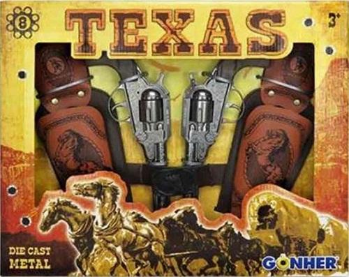 CONJUNTO COWBOY TEXAS CON DOS PITOLAS 8 TIR 37-234