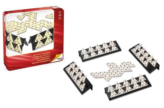 DOMINO TRIANGULAR EN CAJA METAL 150-754