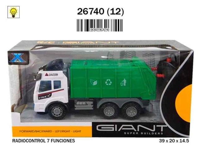 CAMION BASURA R/C 7 FUNCIONES 9-26740