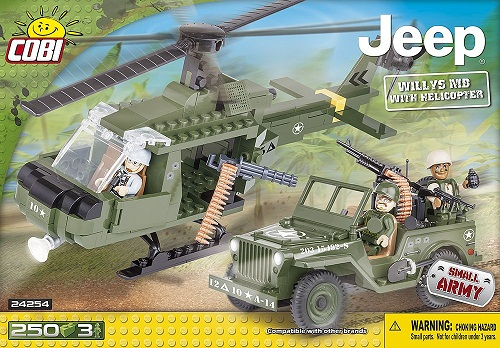 JEEP WILLYS CON HELICOPTERO