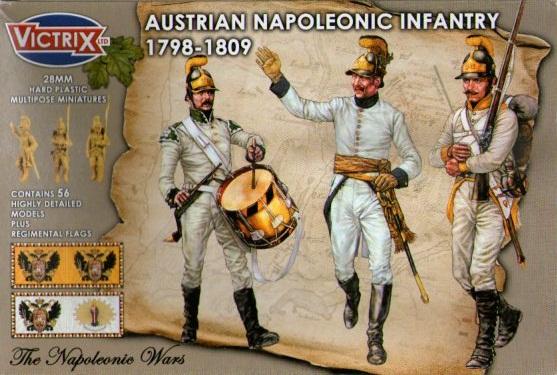AUSTRIAN NAPOLEONIC INFANTRY 1798-1809 (56) 28MM.