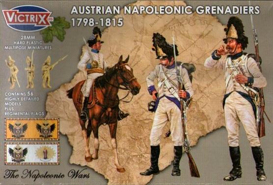AUSTRIAN NAPOLEONIC GRENADIERS 1798-1815 (56) 28MM