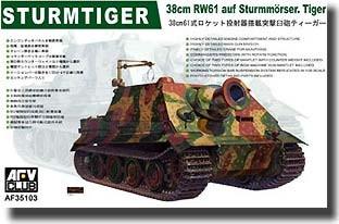 SURMTIGER 38cm RW AUF STURMMÖRSER TIGER 1/35