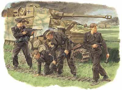 SURVIVORS, PANZER CREW (KURSK 1943) 1/35 6129