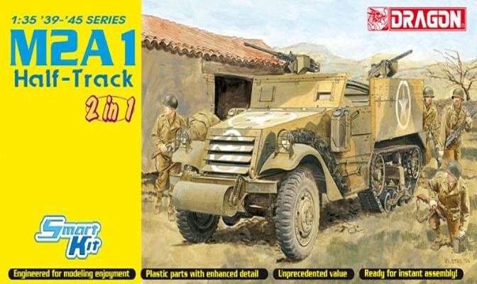 M2A1 HALF-TRACK 2 IN 1 1/35 6329 DRAGON