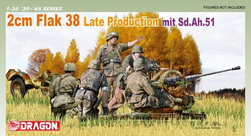 2CM FLAK 38 LATE PRODUCTION MIT SD.AH.51 1/35