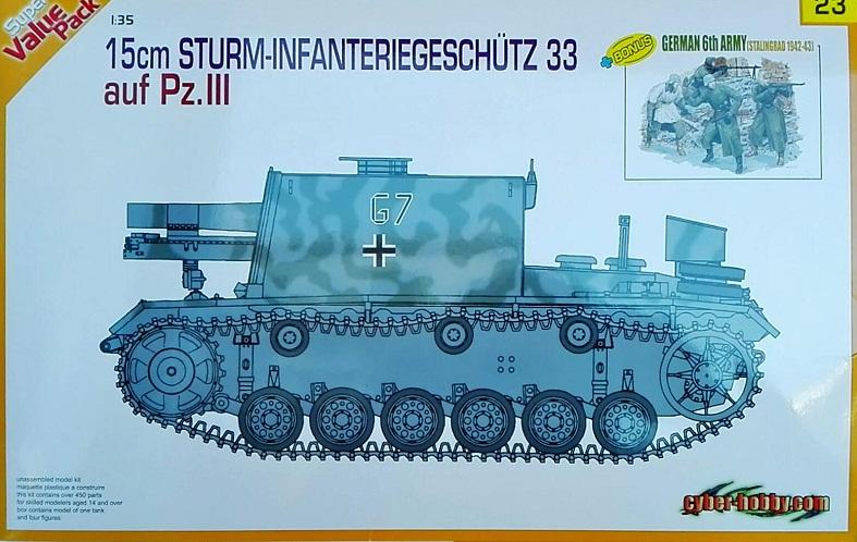 15CM. STURM-INFANTERIEGESCHUTZ 33 AUF PZ. III 1/35