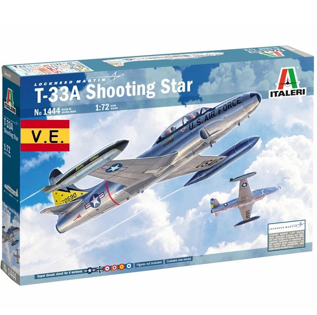 T-33A SHOOTING STAR 1/72 CALCAS ESPAÑOLAS 1444