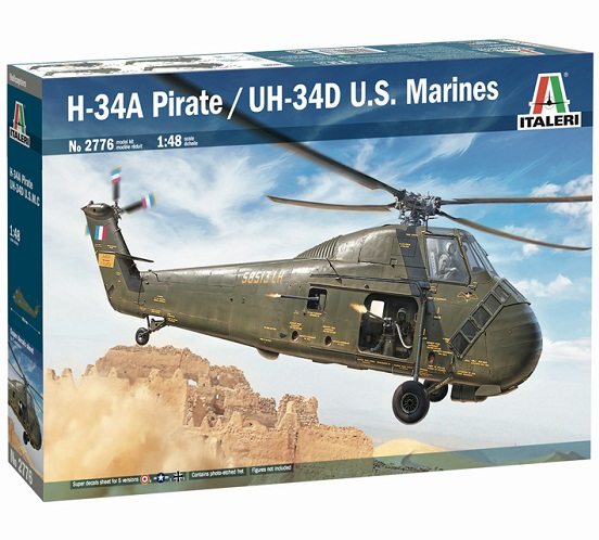 H-34A PIRATE/UH-34D US MARINES 1/48 ITALERI 2776