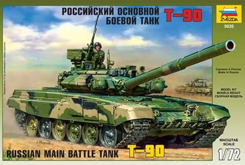 RUSSIAN MAIN BATTLE TANK T-90 1/72