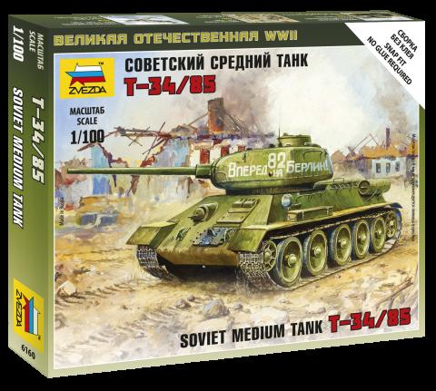 T-34/85 SOVIET TANK 1/100