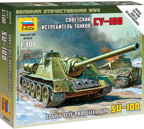 SU-100 SOVIET SELF-PROPELLED GUN 1/100