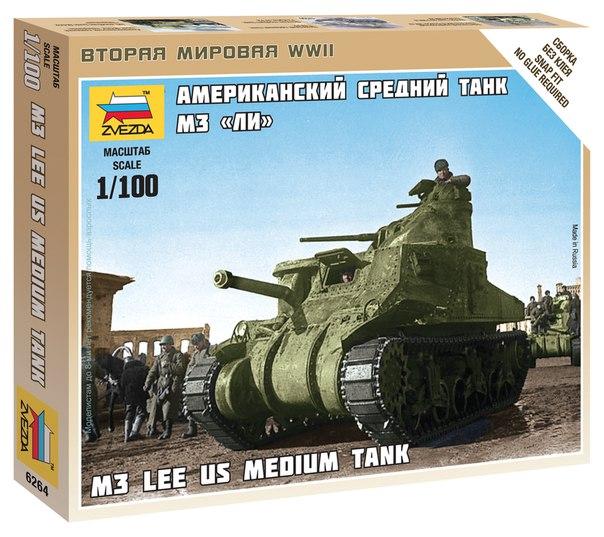 US MEDIUM TANK M-3 LEE 1/100