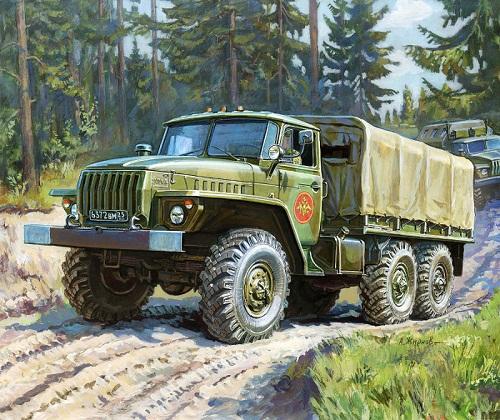 SOVIET ARMY TRUCK URAL 4320 1/100