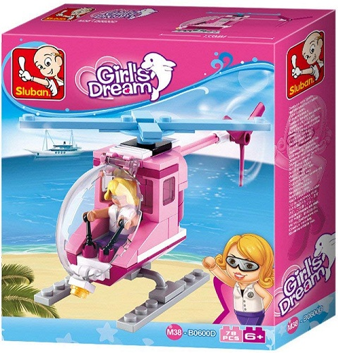 CHICA EN HELICOPTERO GIRLS DREAM B0600D