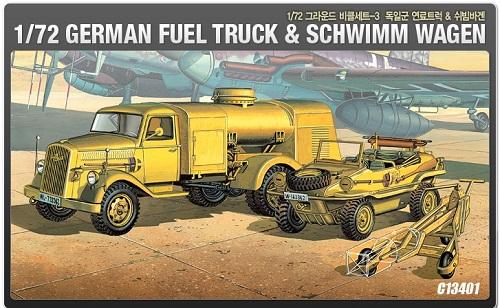 GWERMAN FUEL TRUCK & SCHWIMMWAGEN 1/72 13401