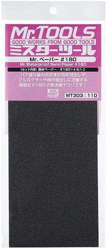 MR. WATERPROOF SAND PAPER #180 X4 SHEETS MT303