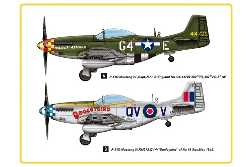 P-51D MUSTANG IV FIGHTER 1/48 85802 HOBBY BOSS