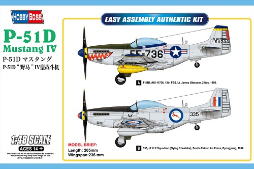 P-51D MUSTANG IV FIGHTER 1/48 85806 HOBBY BOSS