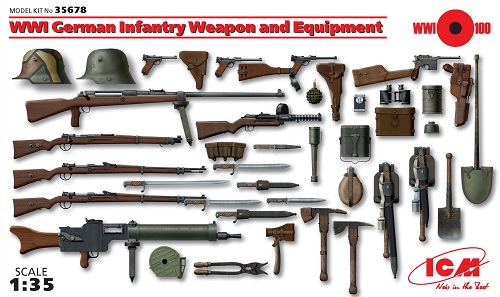 WWI GERMAN INFANTRY WEAPON AND EQUIPMENT 1/35