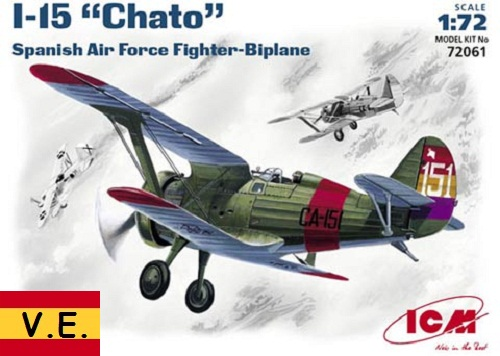 I-15 CHATO SPANISH AIR FORCE 1/72 CALCAS ESPAÑOLAS