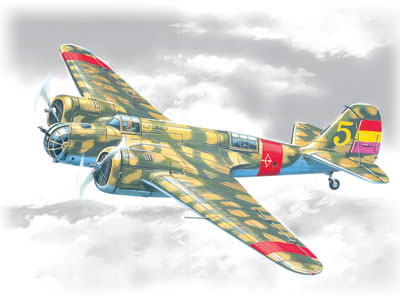 SB 2M-100 KATIUSHKA SPANISH AIR FORCE BOMBER 1/72