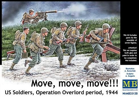 MOVE MOVE MOVE US SOLDIERS OPERATION OVERLORD 1/35