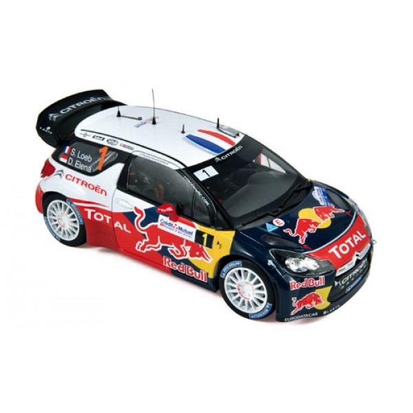 CITROEN DS 3 WRC WORLD CHAMPION S. LOEB 1/18