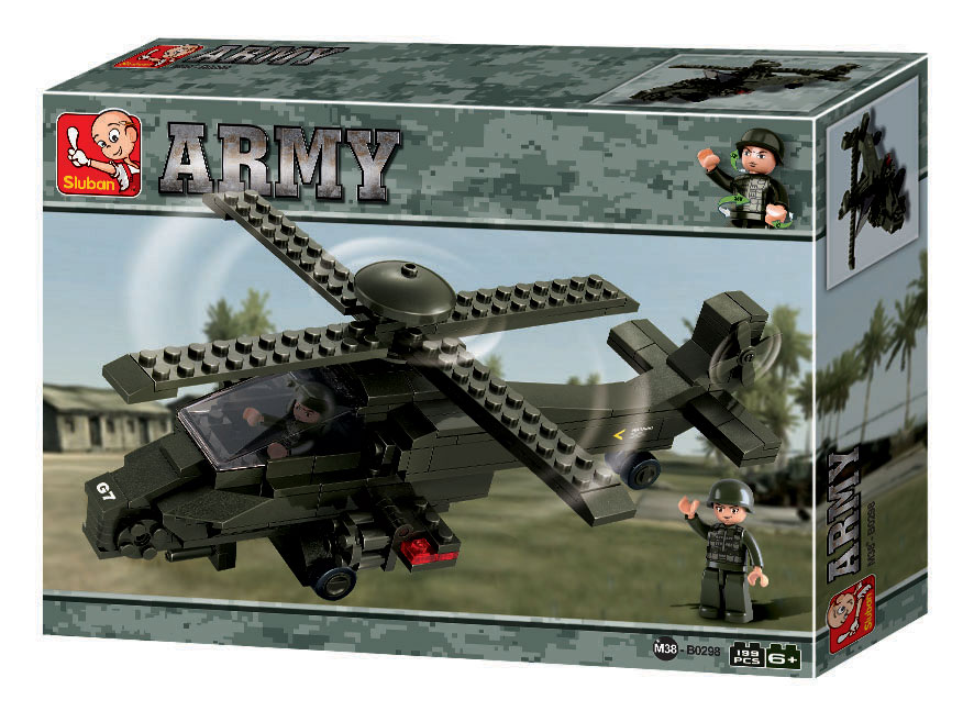 ATTACK HELICOPTER ARMY II B0298 199PCS.