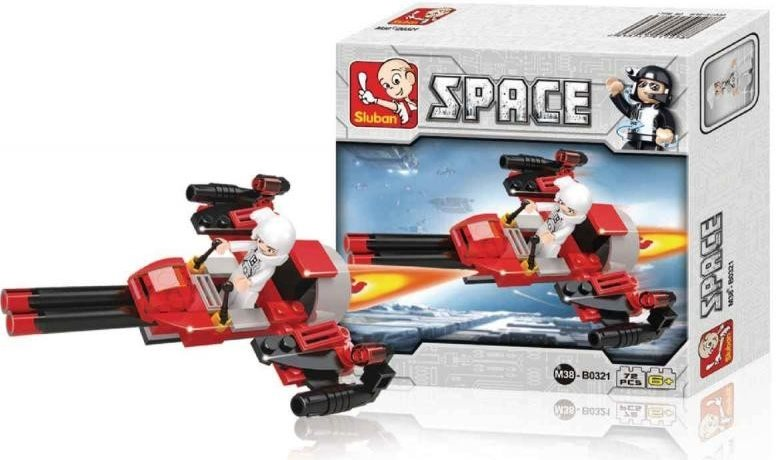 SPACE BOMBER B0321 72PCS.