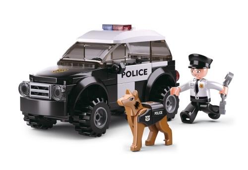POLICE CAR WITH POLICE DOG SLUBAN B0639