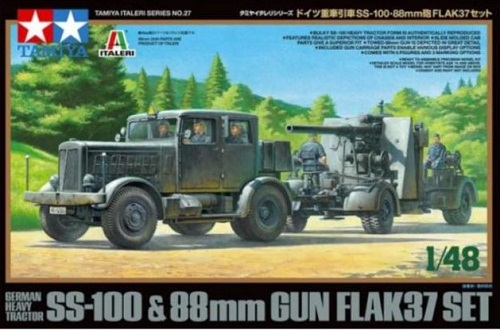 SS-100 & 88MM GUN FLAK37 SET 1/48 37027 TAMIYA