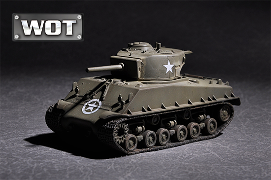 US M4A3E8 WITH 105MM M4 1/72 07168 TRUMPETER