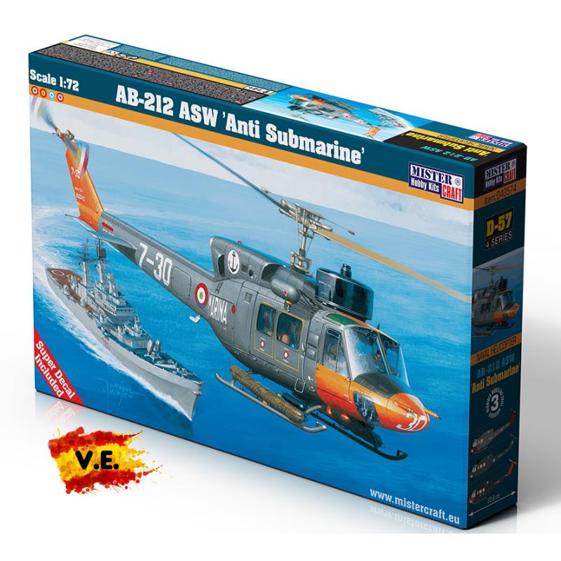 AB-212 ASW ANTI SUBMARINE 1/72 D-57 CALCA ESPAÑOLA