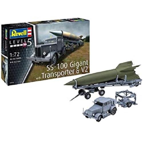 SS-100 GIGANT TRANSPORTER & V2 1/72 03310 REVELL