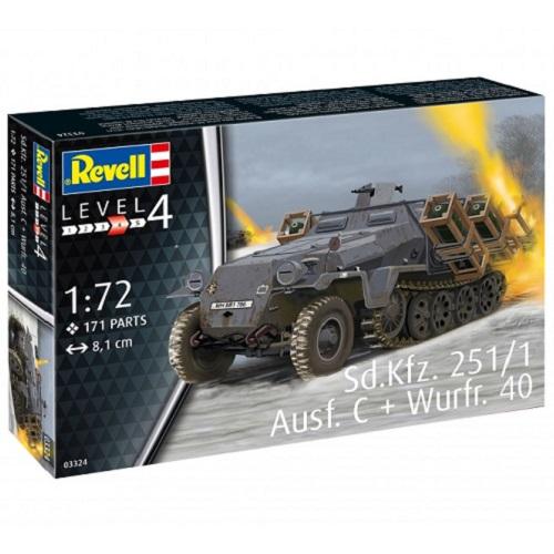 SDKFZ 251/1 AUSF C + WURFR 40 1/72 03324 REVELL