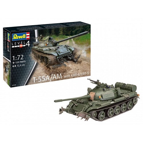 T-55A/AM WITH KMT-6/EMT-5 1/72 03328 REVELL