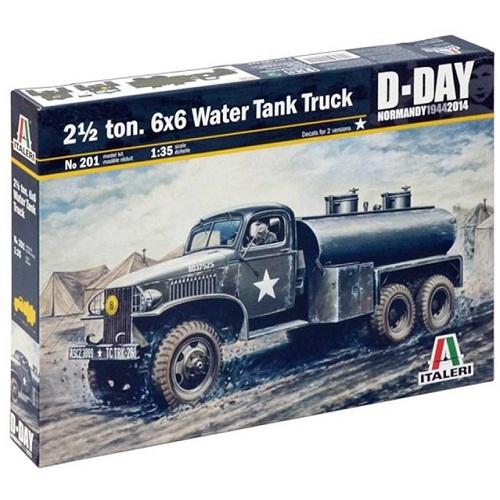 2 1/2 TON. 6X6 WATER TANK TRUCK 1/35 201 ITALERI